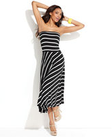 INC International Concepts Petite Skirt, Striped Convertible Maxi