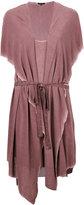 Unconditional hooded waistcoat dress