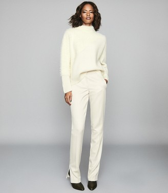Reiss Paola - Textured Knitted Jumper in Neutral