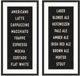 Pottery Barn Beverage Sign