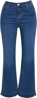 Evans CURVE FIT Midwash Wide Leg Jeans