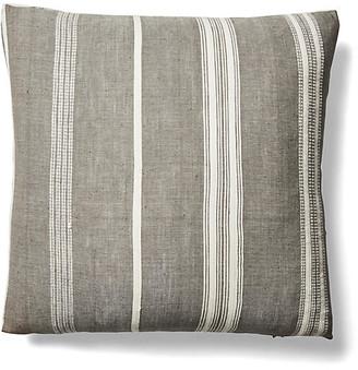 Imagine Home Tayla 26x26 Pinstripe Pillow - Gray/Natural