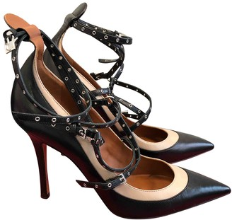 Valentino Rockstud Spike Black Leather Heels