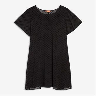 Joe Fresh Women+ Chiffon Tee Dress, JF Black (Size 1X)