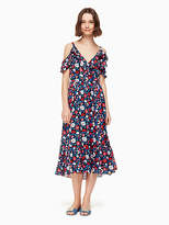 Kate Spade Daisy satin stripe midi dress