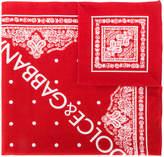 Dolce & Gabbana printed logo bandeau scarf