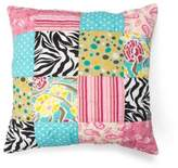 Amity Home Zebra Stripe Square Throw Pillow in Black/White
