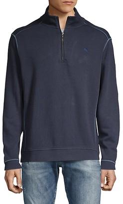 Tommy Bahama Half-Zip Cotton Sweatshirt
