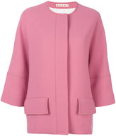 Marni three-quarter sleeve jacket - women - Viscose/Virgin Wool - 36