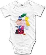 Kra8er Ben Holly's Little Kingdom Unisex Boys Girls Baby Bodysuits Onesies 100% Cotton