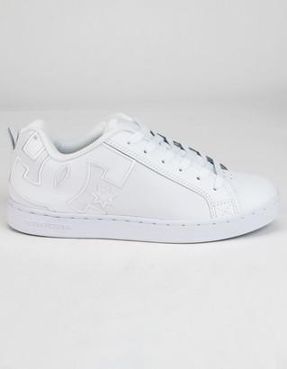 DC Court Graffik Womens White Shoes