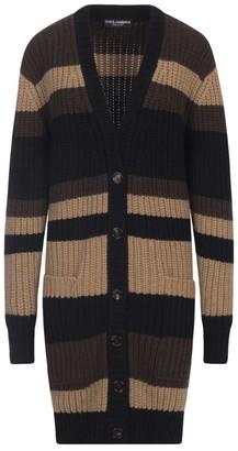 Dolce & Gabbana Striped Cashmere Cardigan