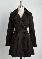 JESSICA SIMPSON OUTERWEAR Metropolitan Miss Coat in Noir