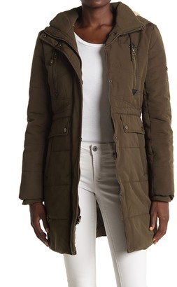 Lucky Brand Missy Faux Fur Hood Parka
