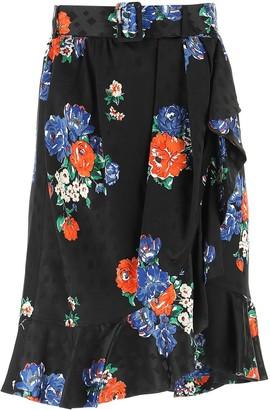 Tory Burch Floral Printed Skirt
