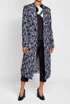 CALVIN KLEIN 205W39NYC Virgin Wool and Silk Coat with Tulle and Velvet