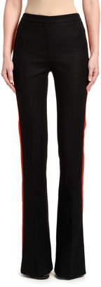 Alexander McQueen Oxbridge Flannel Tuxedo Flare Pants