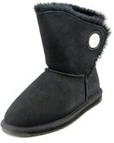 Emu Hakea Lo Women Round Toe Leather Black Winter Boot.