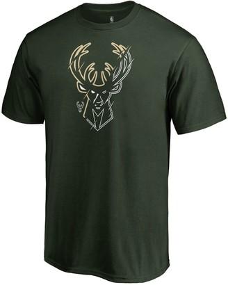 Hunter Men's Fanatics Branded Green Milwaukee Bucks Team X-Ray T-Shirt