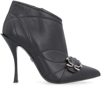 Dolce & Gabbana Leather Pointy-toe Ankle-boots