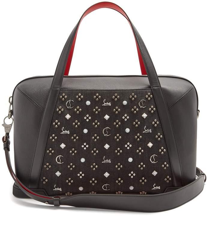 Christian Louboutin Bagdamon spike-embellished leather holdall