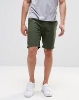 Pull&bear Slim Fit Shorts In Green