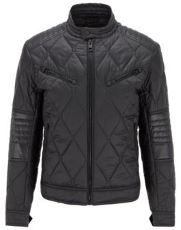 HUGO BOSS Slim-fit quilted jacket with water-repellent finish