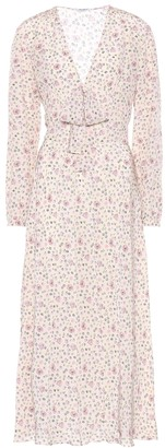 Miu Miu Floral-printed silk dress