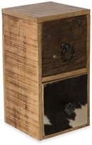 2 Drawer Cow Hide & Wood Storage Unit