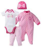 Gerber Onesies Baby Top & Bottom 4 Piece Set - Love Pink