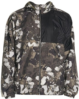 Marcelo Burlon County of Milan Cross Camouflage Hooded Windbreaker