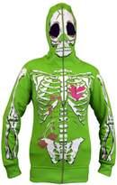 Eskaay Women Full Face Mask Skeleton Skull Hoodie Sweatshirt Halloween Costume Hoodie S