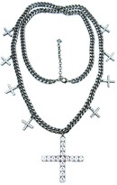 Nicole Miller Large Pave Cross Pendant Necklace