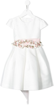 Mimilù Floral Embellished Bow Detail Dress