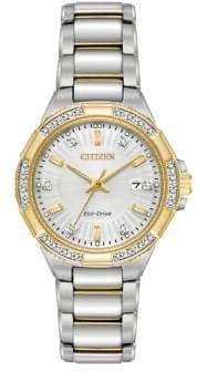 Citizen Eco-Drive Diamond Goldtone Stainless Steel Bracelet Watch