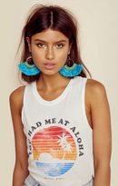 Natalie B lamai fringe tassel earrings