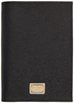 Dolce & Gabbana Black Leather Passport Holder