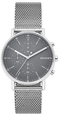 Skagen Signature Steel-Mesh Chronograph Watch