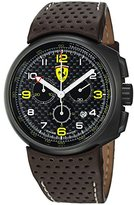 Ferrari Men's Classic Dial Brown Leather Strap Quartz Watch