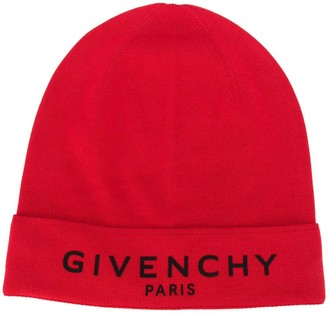 Givenchy Logo-Printed Beanie Hat
