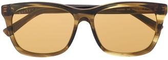 Gucci Tonal Tinted Square Sunglasses