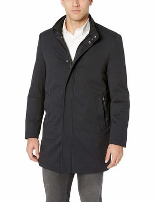 Hart Schaffner Marx Men's Bryce 3/4 Length Technical Raincoat