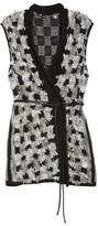 Nic+Zoe Plus Size Women's Blocked Out Vest