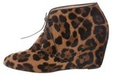 Christian Louboutin Ponyhair Wedge Booties