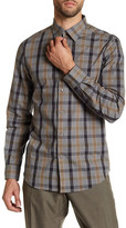 Perry Ellis Plaid Long Sleeve Stretch Fit Shirt