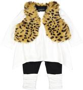 Vitamins Baby Beige Leopard Vest Set - Infant