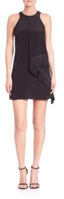 Derek Lam 10 Crosby Draped Fringe-Panel Dress