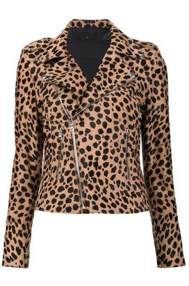 RtA Brown Leather Jacket for Women