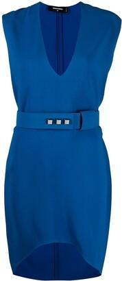 DSQUARED2 belted V-neck dress