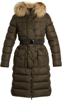 Moncler Khloe fur-trimmed quilted-down coat